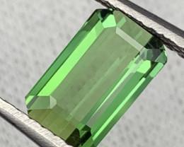 """NR"" 2.55 Carats Top Quality Natural Parrot Green Color Tourmaline"