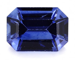 0.96 Carat Emerald Cut Blue Sapphire: Royal Blue