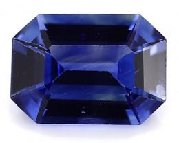 0.88 Carat Emerald Cut Blue Sapphire: Fine Royal Blue