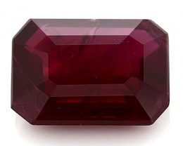 1.14 Carat Emerald Cut Ruby: Pigeon Blood Red