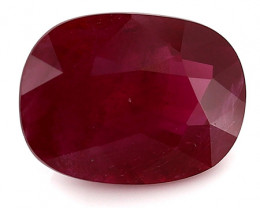 2.02 Carat Cushion Cut Ruby: Pigeon Blood Red