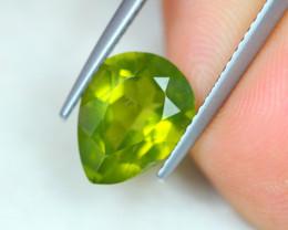 3.07ct Natural Green Peridot Pear Cut Lot GW7223
