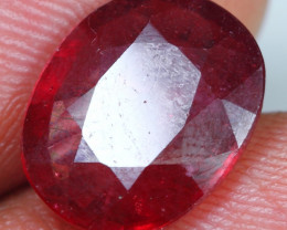6.60cts Red Ruby Gemstone