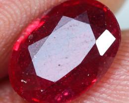 2.95cts Brilliant Red Ruby Gemstone