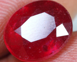 6.50cts Extremely Red Ruby Gemstone