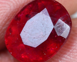 4.00cts Sparkle Red Ruby Gemstone
