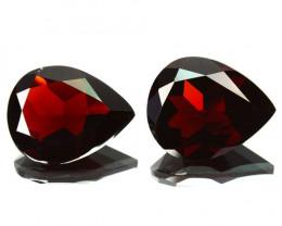 5.13 Cts Natural Red Rhodolite Garnet 10x8mm Pear 2 Pcs Africa