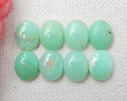 8pcs Semi Precious Tiny Green Chrysoprase Gemstone, Chrysoprase Cabochons E