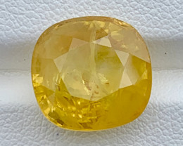 GFCO Certified 13.18 Carats Yellow Sapphire Gemstones