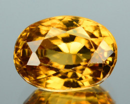 Sparkling!!! 2.19 Cts Natural Imperial Color Zircon Oval Cut Tanzania