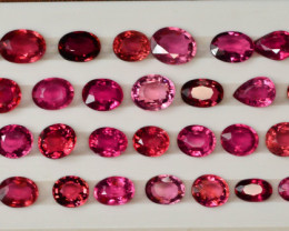33.85 ct Natural Rubelite Tourmaline ~ Lot