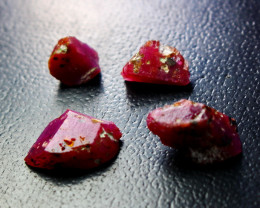 25.20 Ct Unheated ~ Natural Ruby Rough Lot