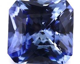 0.82 Carat Emerald Cut Blue Sapphire: Fine Blue
