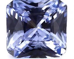 0.79 Carat Emerald Cut Blue Sapphire: Fine Blue