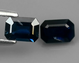 1.35 CTS AWESOME BLUE SAPPHIRE FACET GENUINE HEATED MADAGASCR!!
