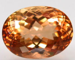 17.12 ct. 100%  Natural Topaz  Orangey Brown     Brazil