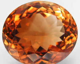 14.80 ct. 100% Natural Topaz Orangey Brown Brazil