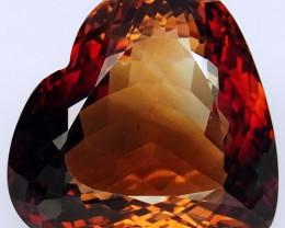 34.06 ct. 100%  Natural Topaz Orangey Brown Brazil