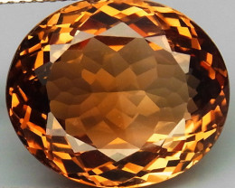 18.59 ct. 100% Natural Topaz Orangey Brown Brazil