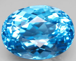 23.73 ct Natural Swiss Blue Topaz   Top Quality  Gemstone Brazil