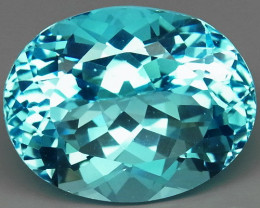 21.26 ct. Natural Swiss Blue Topaz Top Quality Gemstone Brazil