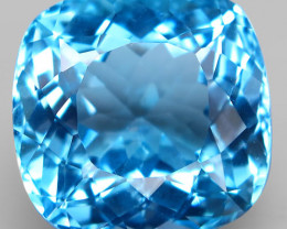 21.20 ct. Natural Swiss Blue Topaz Top Quality Gemstone Brazil