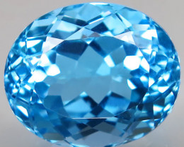 22.53 ct. Natural Swiss Blue Topaz Top Quality Gemstone Brazil