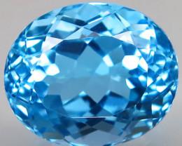 22.53 ct. Natural Swiss Blue Topaz Top Quality Gemstone Brazil