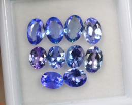 3.61ct Violet Blue Tanzanite Oval Cut Lot D222