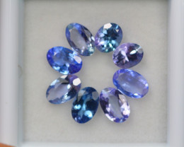 3.00ct Violet Blue Tanzanite Oval Cut Lot D224