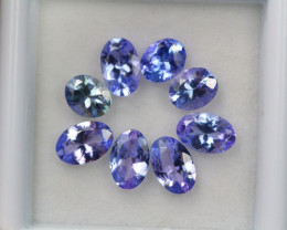 3.29ct Violet Blue Tanzanite Oval Cut Lot D225