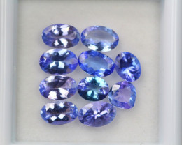 4.17ct Violet Blue Tanzanite Oval Cut Lot D226