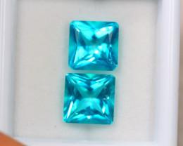 6.18ct Paraiba Color Topaz Pricess Cut Lot D227