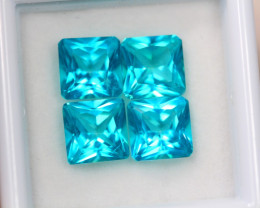 8.27ct Paraiba Color Topaz Pricess Cut Lot D228