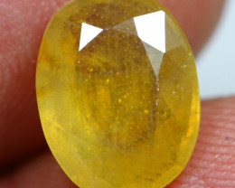 4.10cts Stunning Golden Yellow Ruby Gemstone