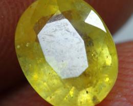 1.35cts Honey Yellow Ruby Gemstone