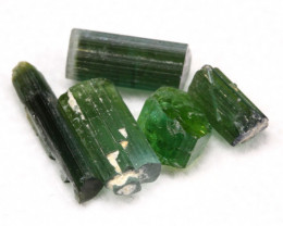 Tourmaline 7.93Ct 5Pcs Natural Green Color Tourmaline Lot D1225