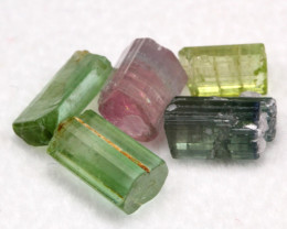 Tourmaline 7.34Ct 5Pcs Natural Multi Color Tourmaline Lot D1226
