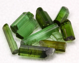 Tourmaline 9.77Ct 10Pcs Natural Green Color Tourmaline Lot D1229