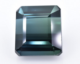 Crt Natural Indicolite Tourmaline  Faceted Gemstone (Ab 01)