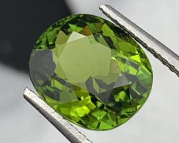 8.70 Carats Copper Bearing Top Green Tourmaline Amazing Luster VVS