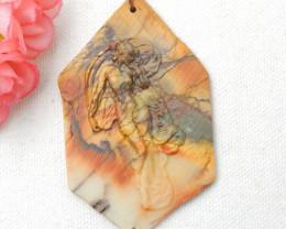 Gorgeous Pendant,Carved Multi-Color Picasso Jasper Gemstone Goddess Pendant
