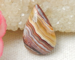 Teardrop Crazy Lace Agate Cabochon, Natural Crazy Lace Agate Loose Gemstone