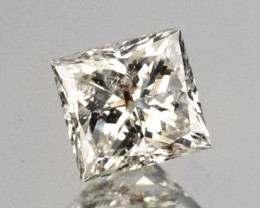 0.16 Cts Untreated Natural White Diamond Princess Cut Africa