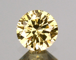 0.12 Cts Untreated Natural Diamond Fancy Yellow Round Cut Africa