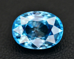 Vibrant Blue ~ 5.55 Ct Natural Zircon From Cambodia
