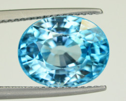 Vibrant Blue ~8.45 Ct Natural Zircon From Cambodia
