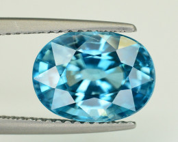 Vibrant Blue ~ 5.05 Ct Natural Zircon From Cambodia