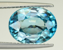 Vibrant Blue ~ 6.05 Ct Natural Zircon From Cambodia