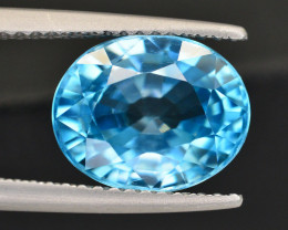 Vibrant Blue ~ 5.50 Ct Natural Zircon From Cambodia